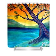 The Leaning Tree Shower Curtain