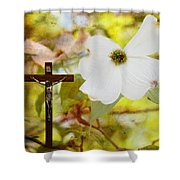 The Legend Of The Dogwood Shower Curtain