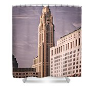 The Leveque Tower Of Columbus Ohio Shower Curtain
