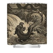 The Leviathan Shower Curtain
