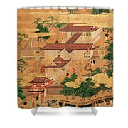 The Life And Pastimes Of The Japanese Court - Tosa School - Edo Period Shower Curtain