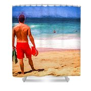 The Life Guard Shower Curtain
