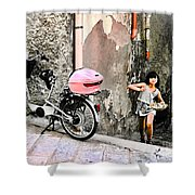 The Life.vieste.italy Shower Curtain
