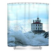 The Light At Fairport Harbor Shower Curtain