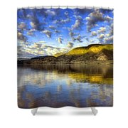 The Light At Skaha Lake Shower Curtain
