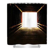 The Light At The End Shower Curtain