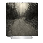 The Light At The End Of The Road Shower Curtain