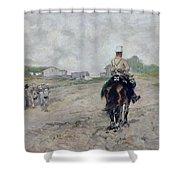The Light Cavalryman Shower Curtain
