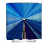 The Light Fantastic Speedway Shower Curtain