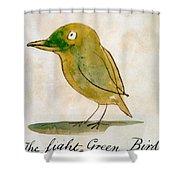 The Light Green Bird Shower Curtain