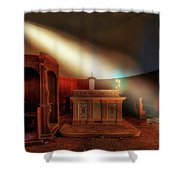 The Light In The Abandoned Church - La Luce Nella Chiesa Abbandonata Shower Curtain