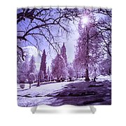 The Light Of River View Shower Curtain