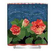 The Light Of The Stars Shower Curtain