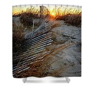 The Light On The Hill Shower Curtain