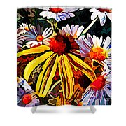 The Light Within The Flowers Shower Curtain