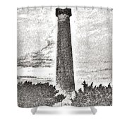 The Lighthouse At Cape May Shower Curtain