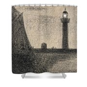 The Lighthouse At Honfleur Shower Curtain
