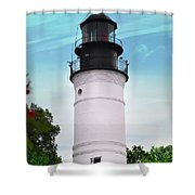 The Lighthouse At Key West Florida Shower Curtain