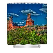 The Lighthouse Formation Shower Curtain