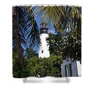 The Lighthouse In Key West II Shower Curtain