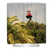 The Lighthouse In Saint Augusrtine Fl Shower Curtain
