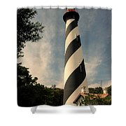 The Lighthouse In St.augustin Fl Shower Curtain