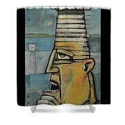 The Lighthouse Keeper Poster Shower Curtain