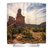 The Lighthouse - Palo Duro Canyon Texas Shower Curtain