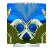 The Lighthouse Racetrack Shower Curtain
