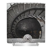 The Lighthouse Stairs Shower Curtain