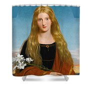 The Lily. Portrait Of Miss Bury Shower Curtain