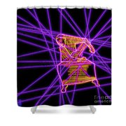 The Lines Of Martha Graham L Tech Shower Curtain