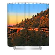 The Linn Cove Viaduct At Sunrise Shower Curtain
