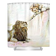 The Lion And The Fox 1 - The First Meeting Shower Curtain
