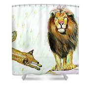 The Lion And The Fox 2 - The True Friendship Shower Curtain