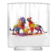 The Lion King Family Shower Curtain
