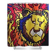 The Lions Mane. Shower Curtain