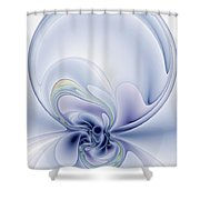 The Liquidity Of Thought Shower Curtain