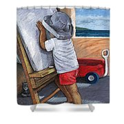 The Little Artist Shower Curtain