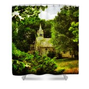 The Little Church On The Corner Shower Curtain