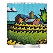 The Little Farm On The Grassy Hill Shower Curtain