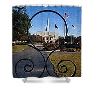 The Little Framed Church Shower Curtain