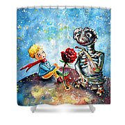 The Little Prince And E.t. Shower Curtain