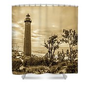 The Little Sable Lighthouse Shower Curtain