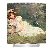 The Little Shepherdess Shower Curtain