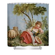 The Little Shepherdess Shower Curtain