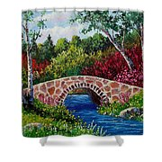 The Little Stone Bridge Shower Curtain