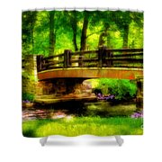 The Little Stone Bridge Shower Curtain