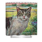 The Little Visitor Shower Curtain