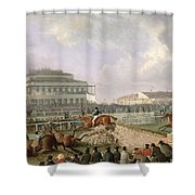 The Liverpool And National Steeplechase At Aintree Shower Curtain